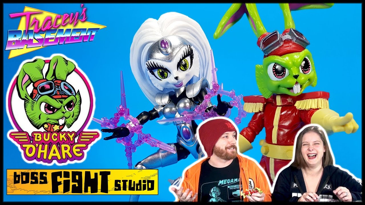 Boss Fight Studio Bucky O'Hare and First Mate Jenny Action Figures Unboxing Review