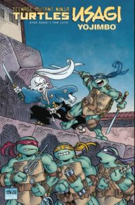 "tmnt-usagi_hardcvr-copy-1-674x1024-1-198x300 Tracey Reviews: ""Teenage Mutant Ninja Turtles/Usagi Yojimbo"" Hardcover Comic [SPOILER FREE] Comics Reviews"