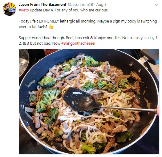 Jason-Tweets-Keto-Update-Day-4b GEEKS Do KETO! Diet Journey Day 7 Update Get to Know Us More!