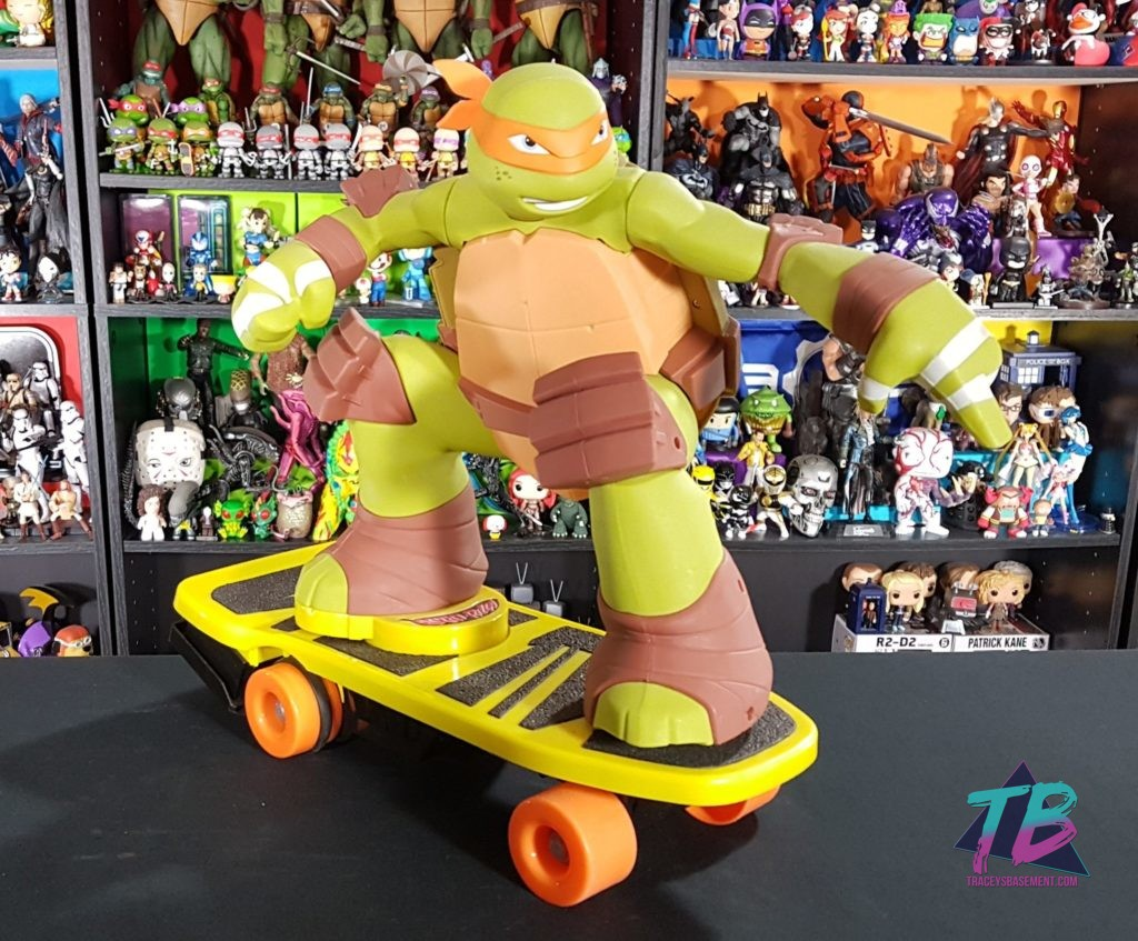 Teenage-Mutant-Ninja-Turtles-2012-Michelangelo-Remote-Controlled-Toy-Front-Shot-1024x847 Custom TMNT Toy! A Totally Radical Repaint! Mail Calls Toys and Collectibles Videos