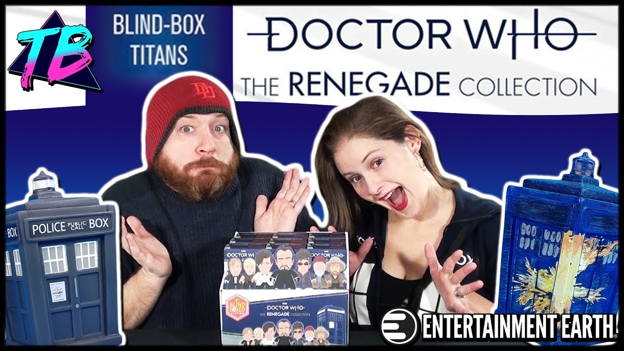 Doctor Who Titans Renegade Collection Titan Merchandise Vinyl Blind Box Figures Entertainment Earth Unboxing Video