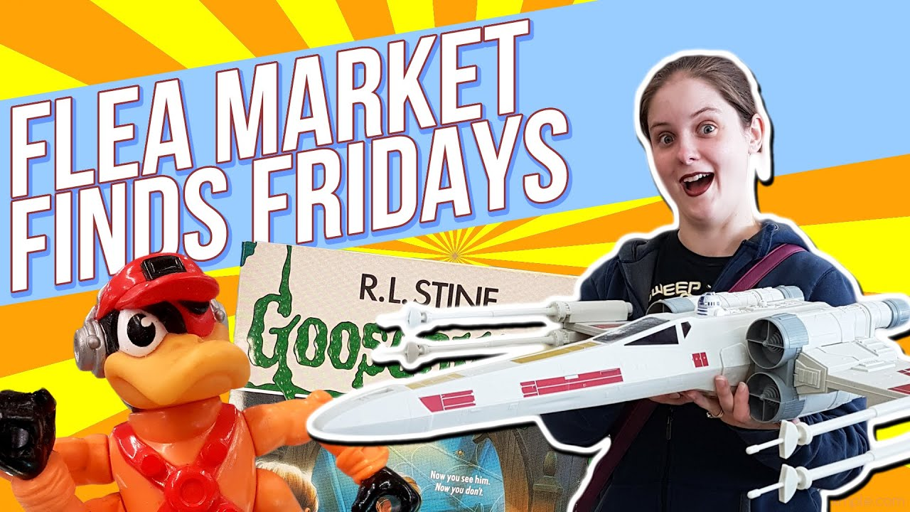 Flea Market Finds Fridays Episode 1 Star Wars Bucky Ohare DeadeyeDuck Goosebumps Books Comics