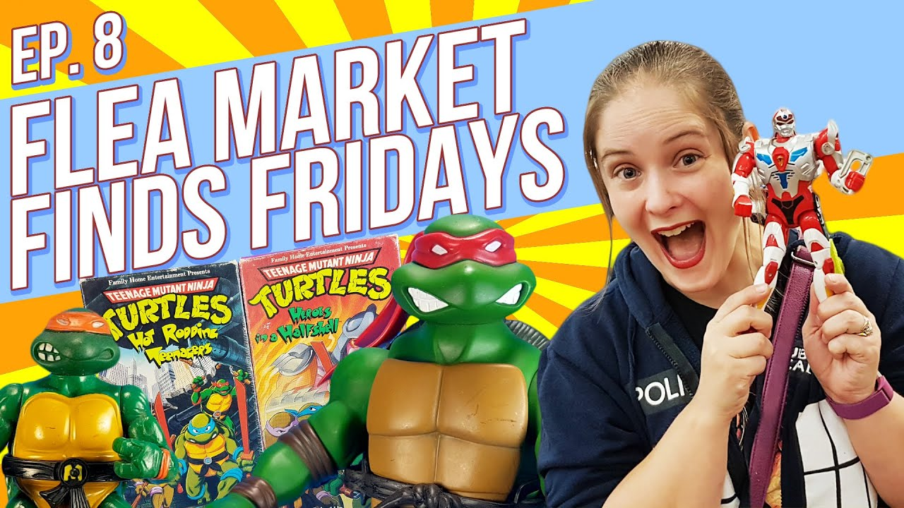 Flea Market Finds Fridays Episode 8 TMNT Teenage Mutant Ninja Turtles Superhuman Samurai Syber Squad Servo