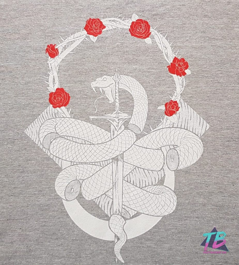 Threads-by-ZBox-Zavvi-Books-and-Shirts-Snake-Sword-Roses-Thorns-Tee-925x1024 THREADS by ZBox (July 2019) Unboxing Subscription Boxes Threads Videos