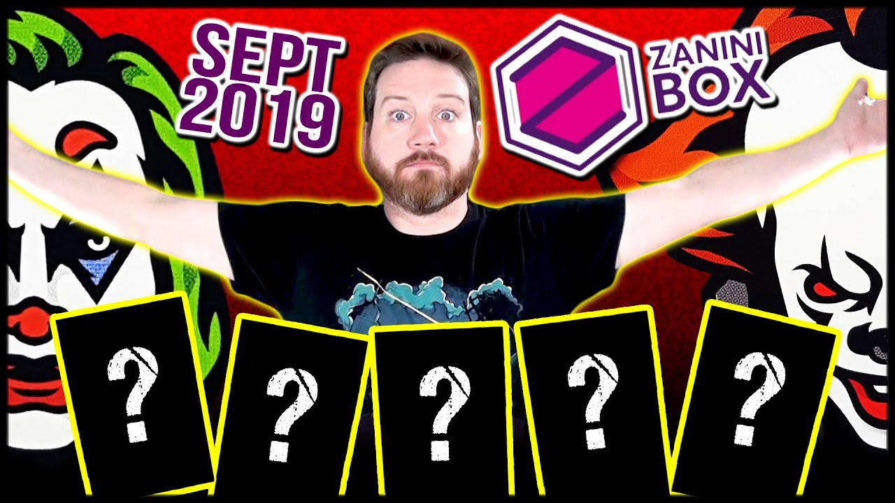 ZANINI Box September 2019 Unboxing Pennywise Joker GI Joe Mighty Mouse Hitman Agent 47