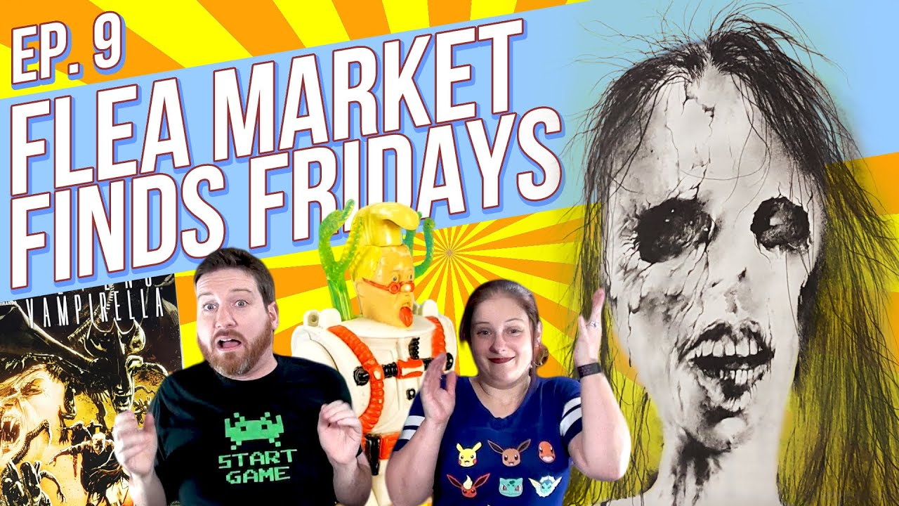 Flea Market Finds Fridays! Episode 9 Scary Stories Haunted Tales Ghostbusters Comics