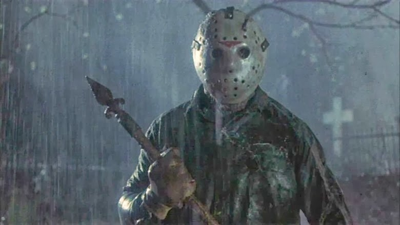 "31-Days-of-Horror-Friday-the-13th-Part-VI-Jason-Lives-1986-Jason-Voorhees-Menacing-in-the-Rain ""31 Days of Horror"" Day 13: ""Friday the 13th Part VI: Jason Lives"" (1986) Movies Reviews"
