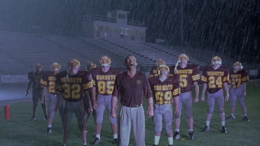 """31-Days-of-Horror-The-Faculty-1998-Coach-Willis-Robert-Patrick-Football-Team-Rain-Assimilated """"31 Days of Horror"""" Day 16: """"The Faculty"""" (1998) Movies Reviews"""