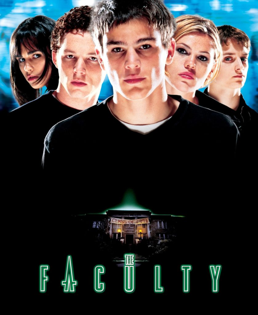 """31-Days-of-Horror-The-Faculty-1998-Promotional-Poster-Box-Art-839x1024 """"31 Days of Horror"""" Day 16: """"The Faculty"""" (1998) Movies Reviews"""