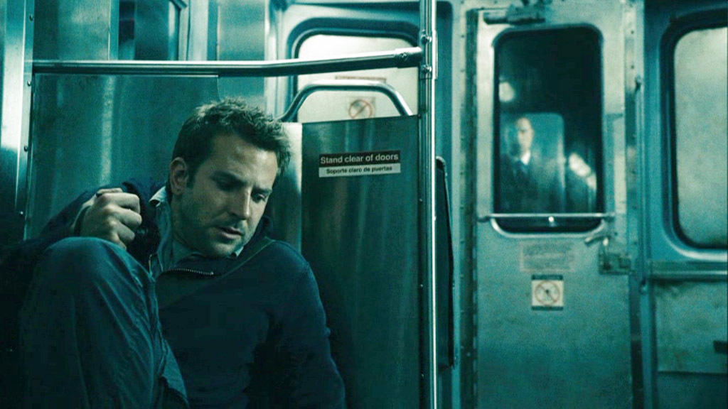 """31-Days-of-Horror-The-Midnight-Meat-Train-2008-Bradley-Cooper-Leon-Hides-from-Mahogany-on-Train """"31 Days of Horror"""" Day 17: """"The Midnight Meat Train"""" (2008) Movies Reviews"""
