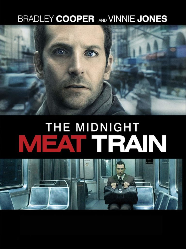 """31-Days-of-Horror-The-Midnight-Meat-Train-2008-Bradley-Cooper-and-Vinnie-Jones-Promotional-Poster-Box-Art-768x1024 """"31 Days of Horror"""" Day 17: """"The Midnight Meat Train"""" (2008) Movies Reviews"""