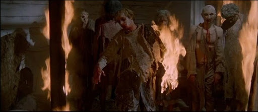 31 Days of Horror Zombi 2 or Zombie or Zombie Flesh Eaters Zombies on Fire in Hospital on Matul Island