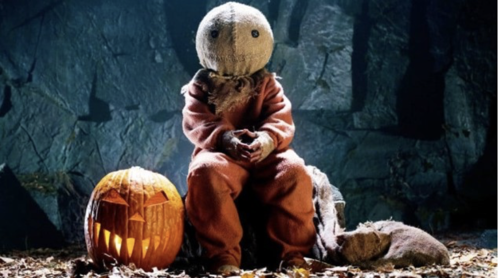 """Screen-Shot-2019-10-27-at-8.48.06-PM31-Days-of-Horror-Trick-R-Treat-2007-Five-Tales-of-Terror-Sam-in-Costume-with-Pumpkin-Jack-o-Lantern """"31 Days of Horror"""" Day 31 - Part One: """"Trick 'R Treat"""" (2007) Movies Reviews"""